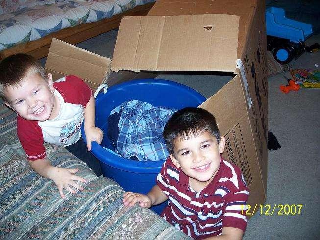 My boys & their box