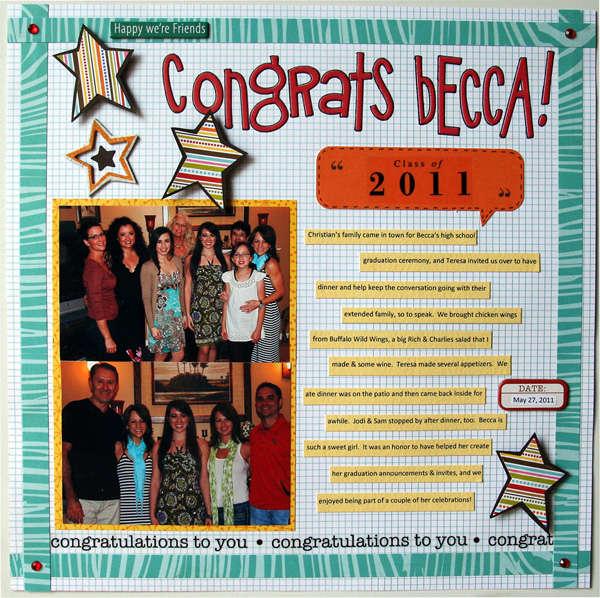 Congrats Becca