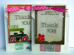 Glassine bag gift card holders