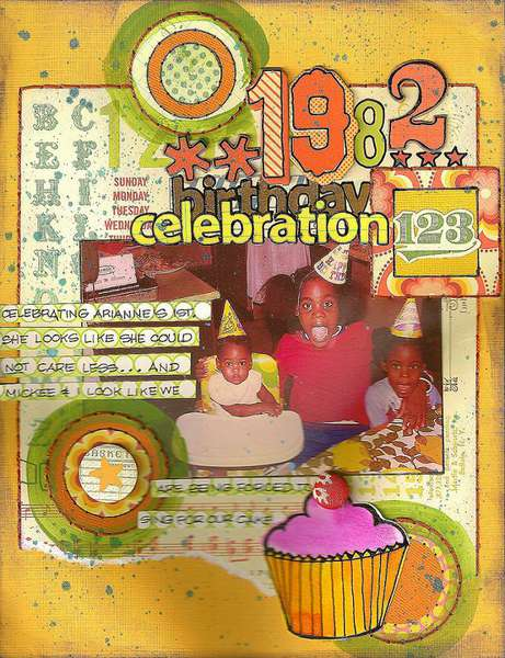 1982 birthday celebration-AUGUST KREATORVILLE KRAFT kit