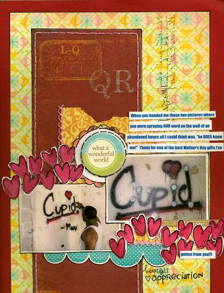 cupid-MASTERFUL SCRAPBOOK DESIGN
