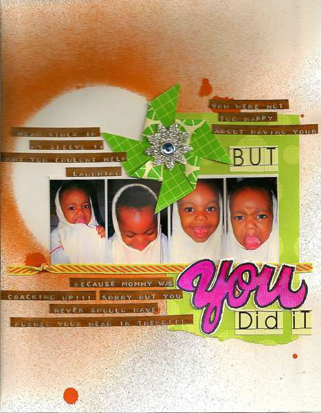 But, YOU did it! APTLY TITLED