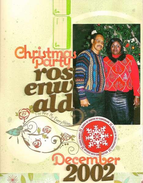 Rosenwald Christmas Party 2002-KREATORVILLE KRAFT DECEMBER KIT