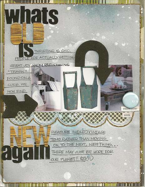 what's old is new again-MASTERFUL SCRAPBOOK DESIGN