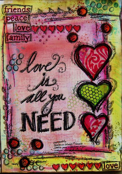 All You Need - Art Journal page