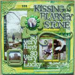 Kissing the Blarney Stone - www.twistedsketches.com -sketch #41 (green)