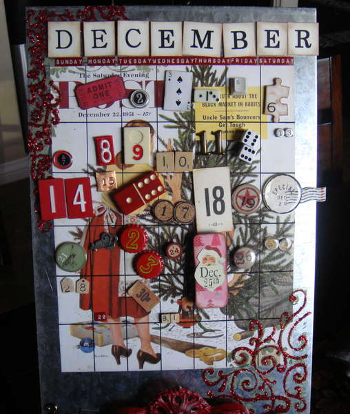 Christmas Altered Art Advent Calendar