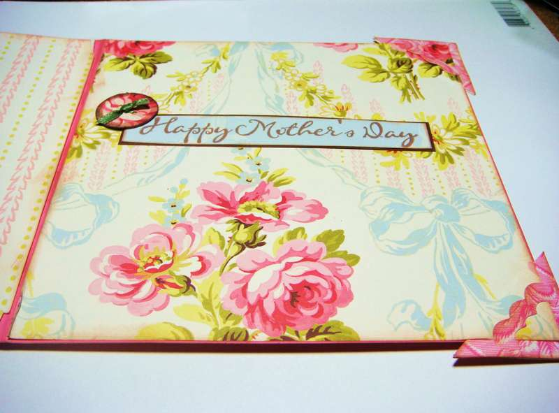 inside view - Mother's day card