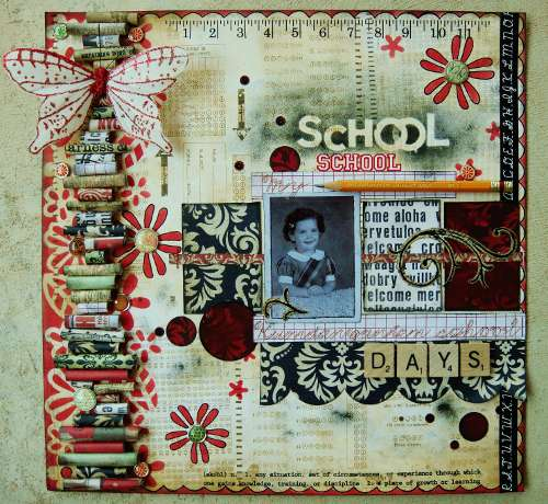 "My Kindergarten School Days - Scraps of Darkness September ""Passages"" kit"