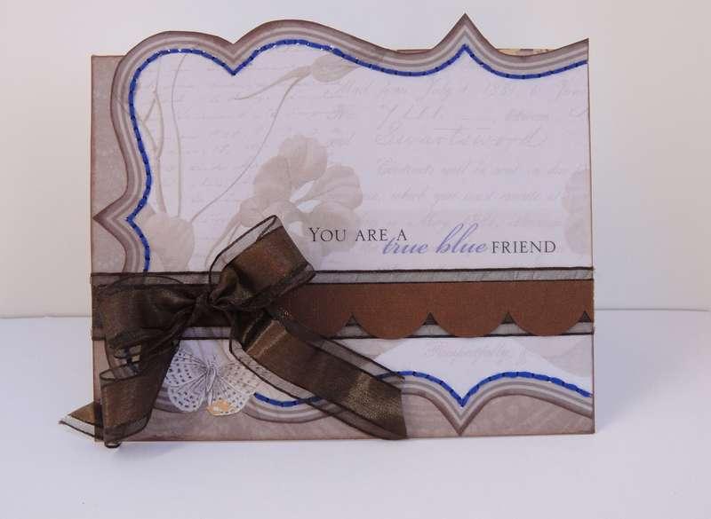 True Blue Friend - Twisted Card Sketch #22