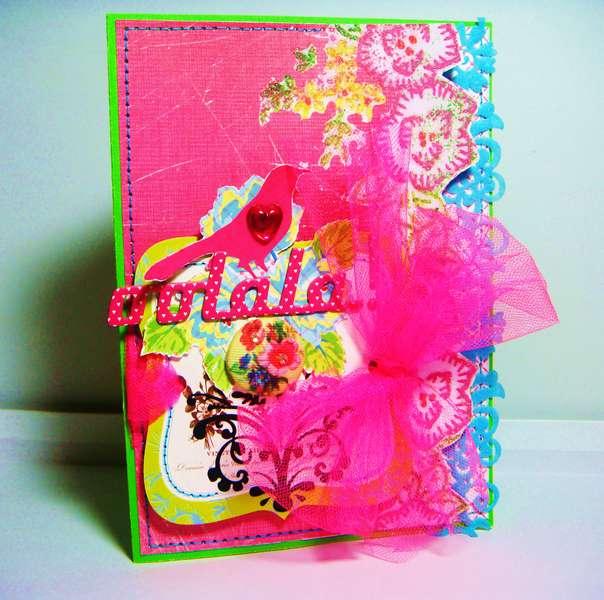 oolala - Twisted Card Sketch #9 (rub-on)