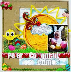 Here Comes...Peter Cottontail - Twisted Sketch #57 with the SUNSHINE twist