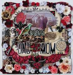 Dad & Mom - Twisted Sketch #109 and Scraps of Darkness June kit