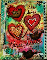 She has THREE HEARTS