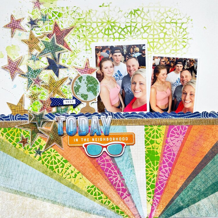 Today Layout- Texture Paste Techniques Free Class