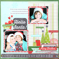 Hello Santa Layout