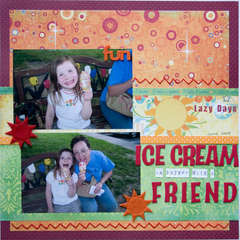 ice cream is better with a friend