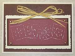 dry embossing browns