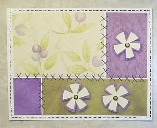 patchwork with circle flowers
