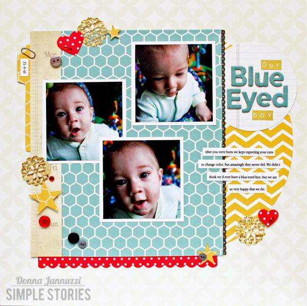 Our Blue-Eyed Boy {Simple Stories}