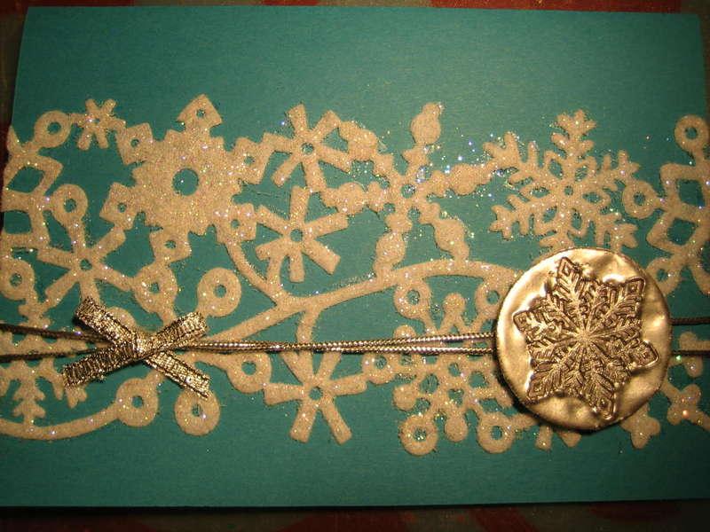 Faux metal snowflake