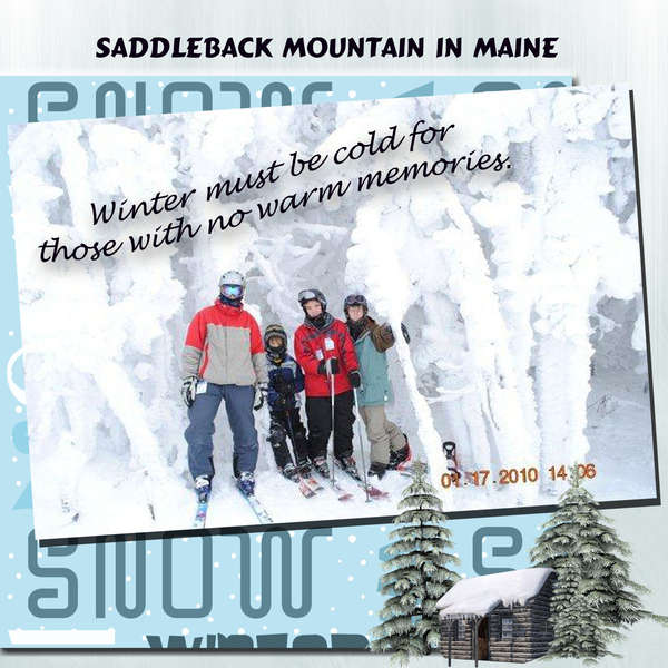 Saddleback Mountain in Maine