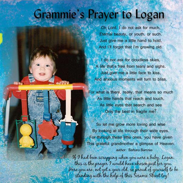 Grammie's Prayer to Logan