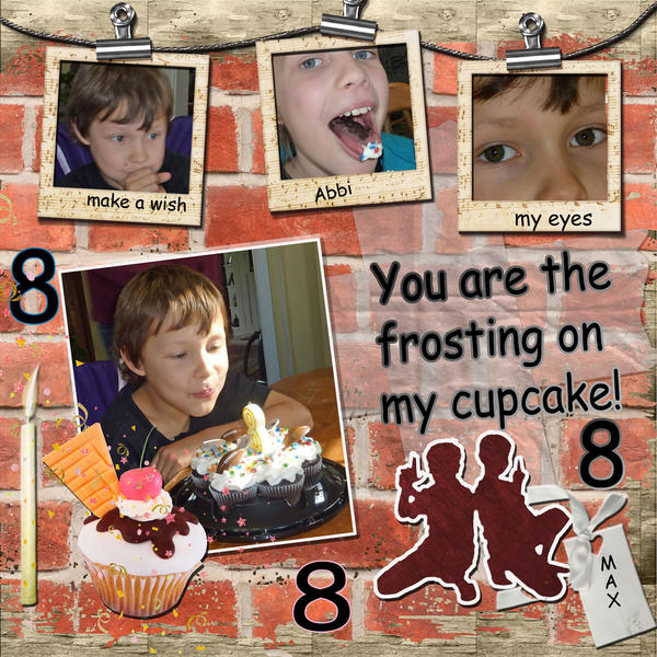 You are the frosting on my cupcake