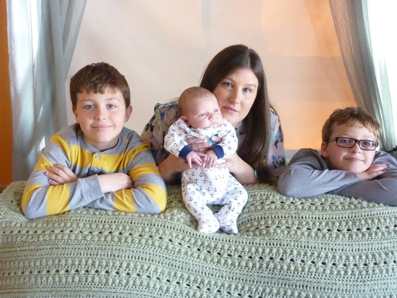Granddaughter with her sons, Our Great Grandsons!