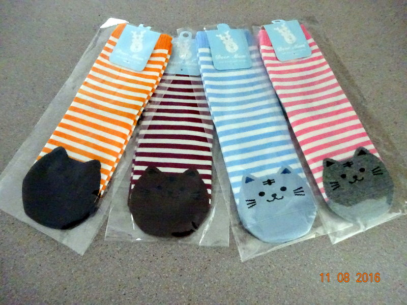 My kitty cat socks