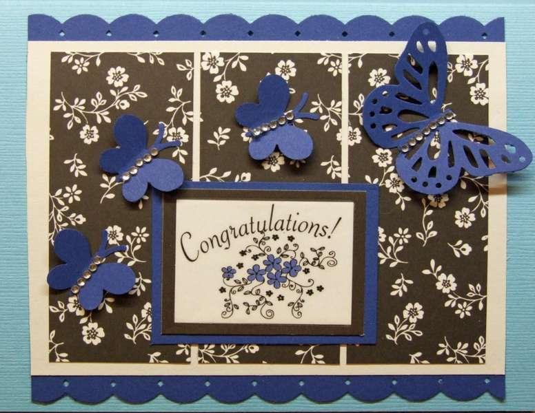 Congratulations Butterfly Card