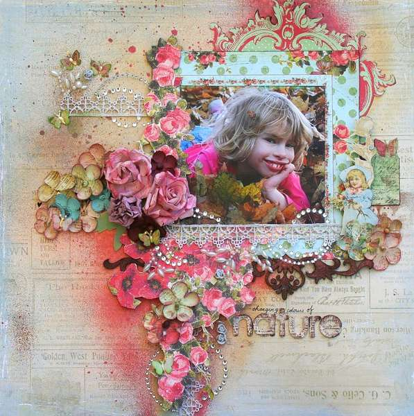 "Changing Colours of Nature-*Scrap That! October ""Bella Rosa"" Kit *"