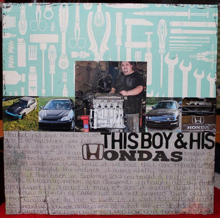 This boy & his Hondas