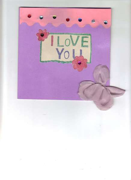 first valentine card