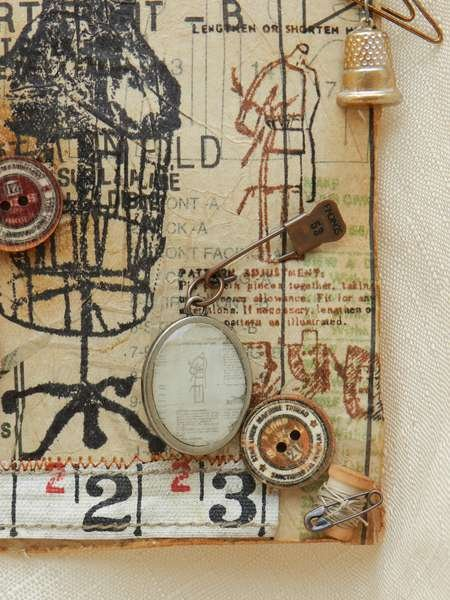 May Tags of 2012 w Tim Holtz - Detail view
