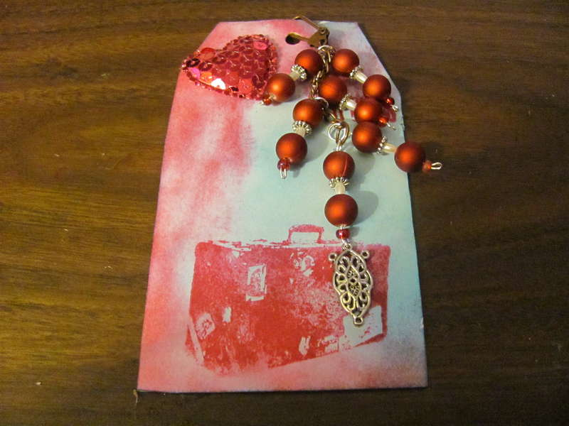 Valentives Day Tag & Charm # 9 for swap.