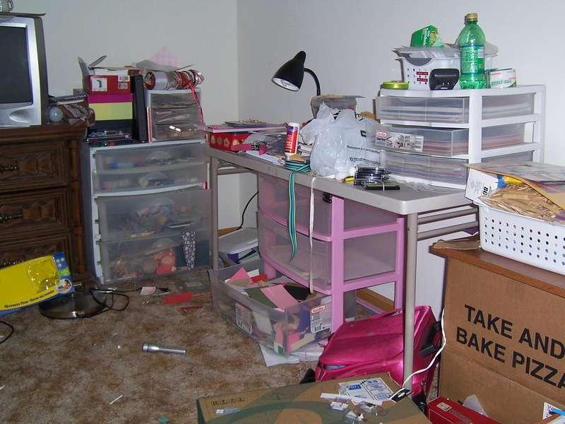 My Scrap Space - BEFORE pic