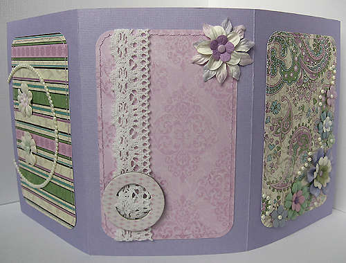Purple photo frame - front