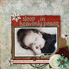 Sleep in Heavenly Peace: My Scrapbook Nook Dec. kit