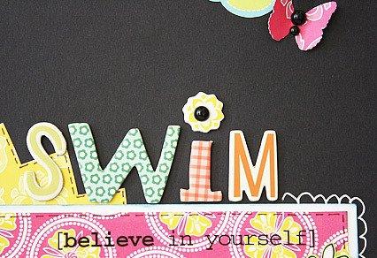 Swim*SRM Stickers/Cosmo Cricket DeLovely