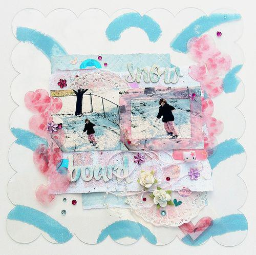 Clear Acrylic layout by leah
