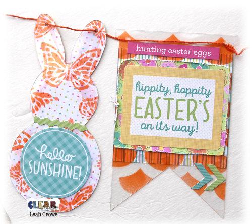 Stenciled Easter Pennant Banner