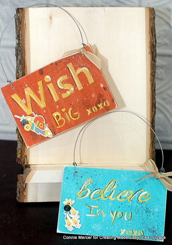 Wooden Card Signs