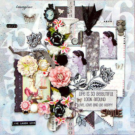 Layout using new Clear Scraps Mascils by Kay