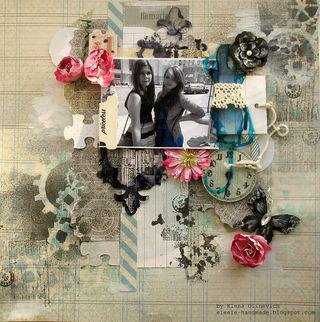 Clear Scraps Layout by Elena
