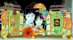 Clear Scraps Tri-Fold Frame by irene