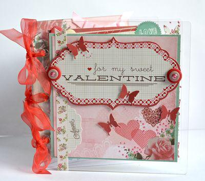 Valentine's Day Acrylic Mini Album by Pinky Hobbs