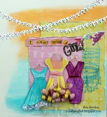 Clear Scraps Dress Form Layout by Rita