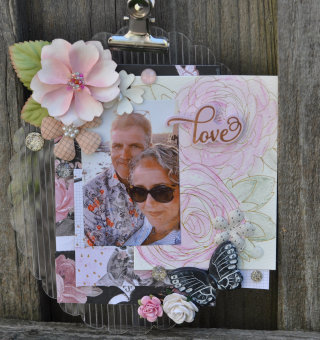 Love Acrylic Clipboard