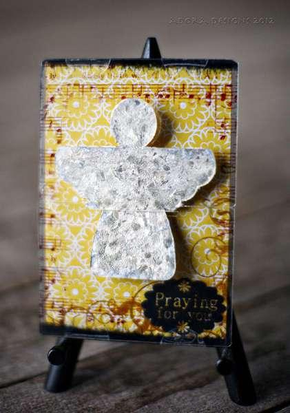 BRAND NEW DESIGN! Send It Clear Acrylic Angel Card